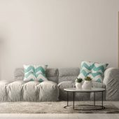 Interior of modern living room with sofa and furniture 3 D rendering